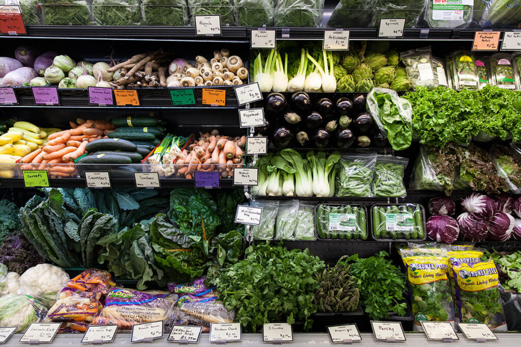 our produce selection