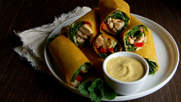 Thai Coconut Chicken Wraps