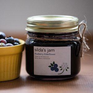 silda's blueberry elderflower jam