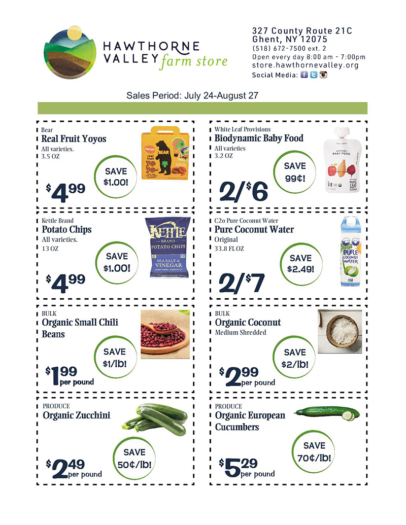 July 24-Aug 27, 2020 sales flyer pg 1