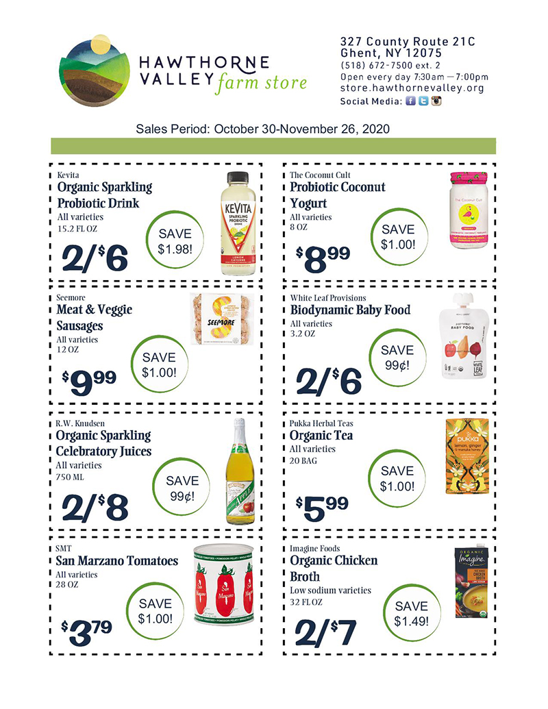 HVFS Oct 30-Nov 26, 2020 Sales Flyer pg 1