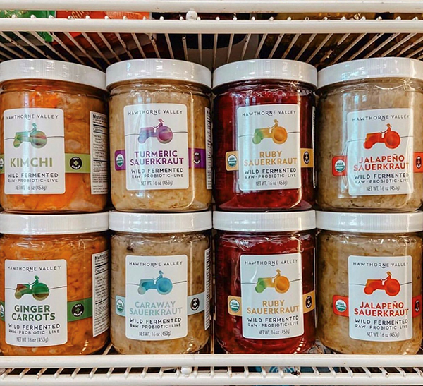 ferments jars on shelf
